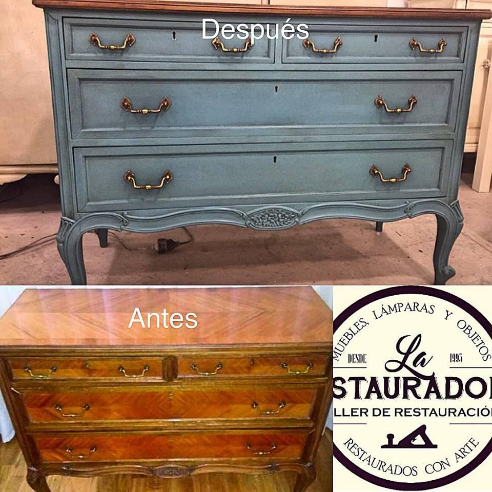 cómoda azul La Restauradora