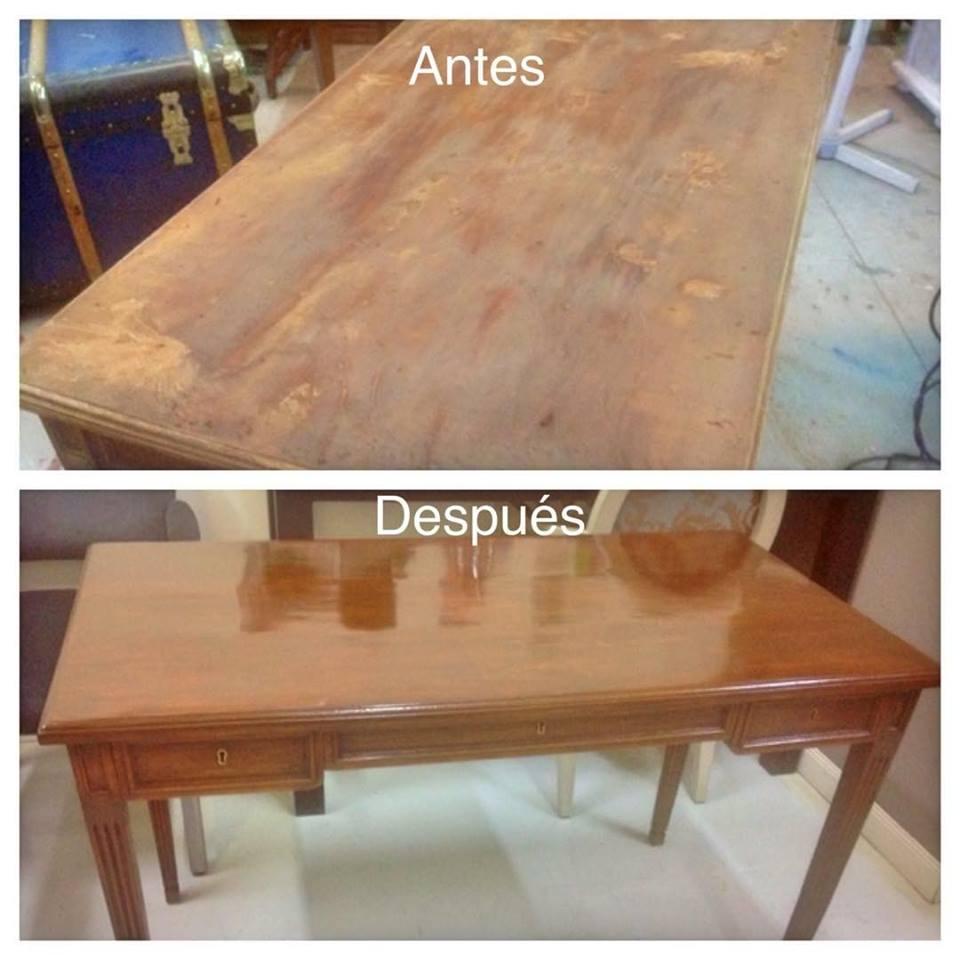 Restauración escritorio-La Restauradora