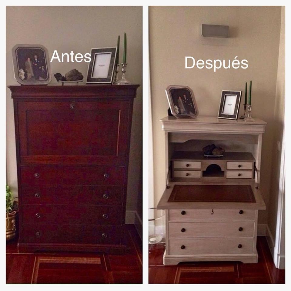 escritorio ingles pintado-La Restauradora