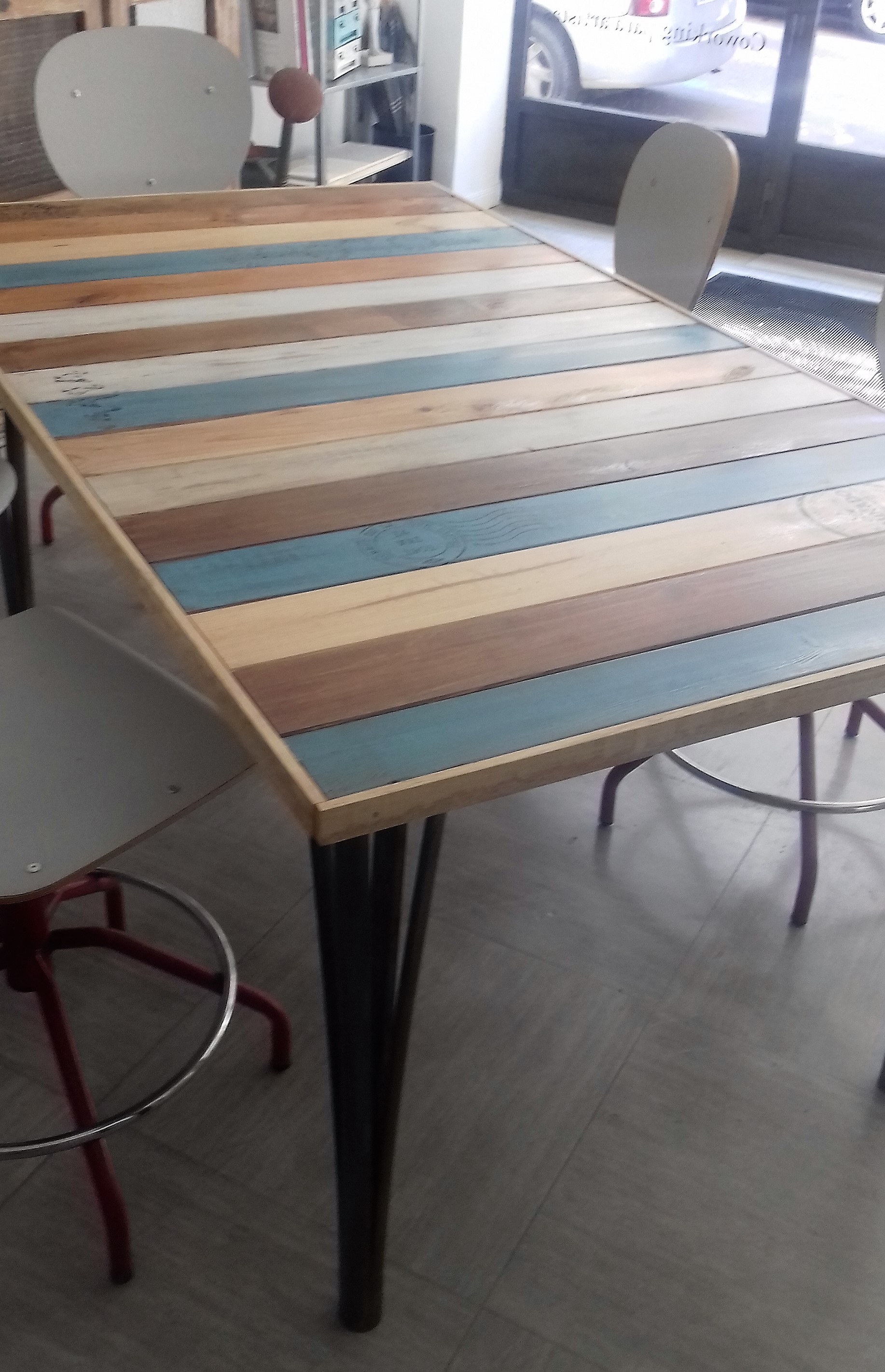 Mesa tablas-La Restauradora
