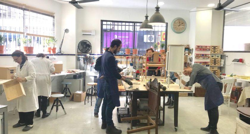 Curso de Restauración en el taller La Restauradora