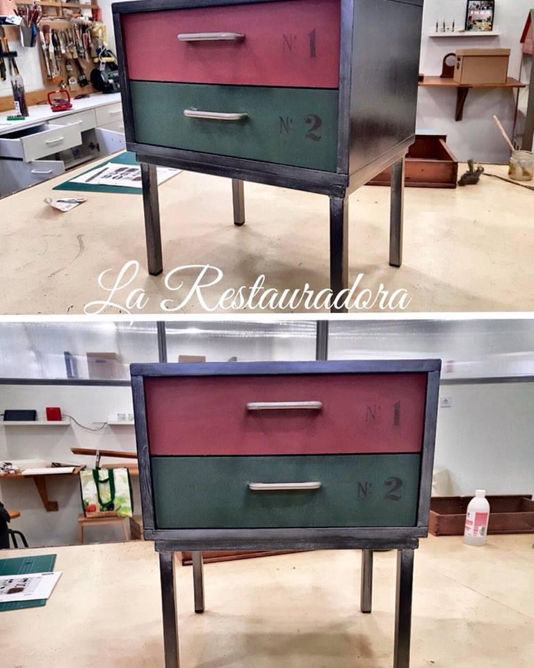 mueble pintado industrial La Restauradora