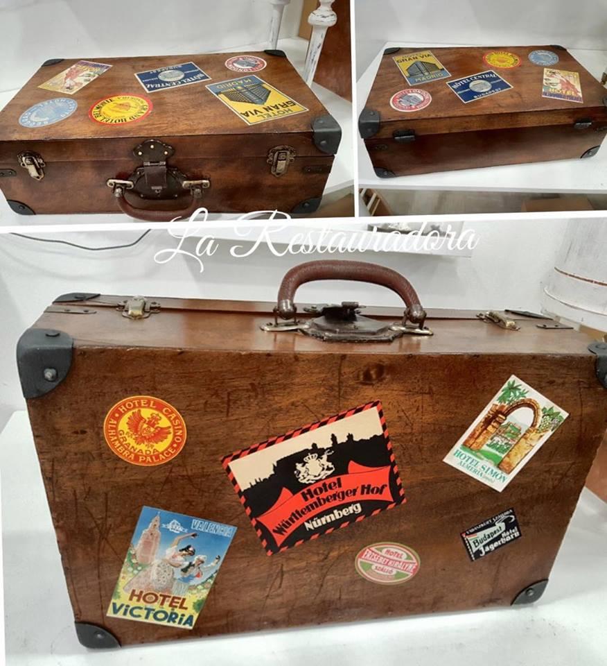 maleta antigua restaurada La Restauradora