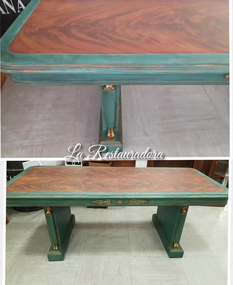 Pintura decorativa mesa imperio