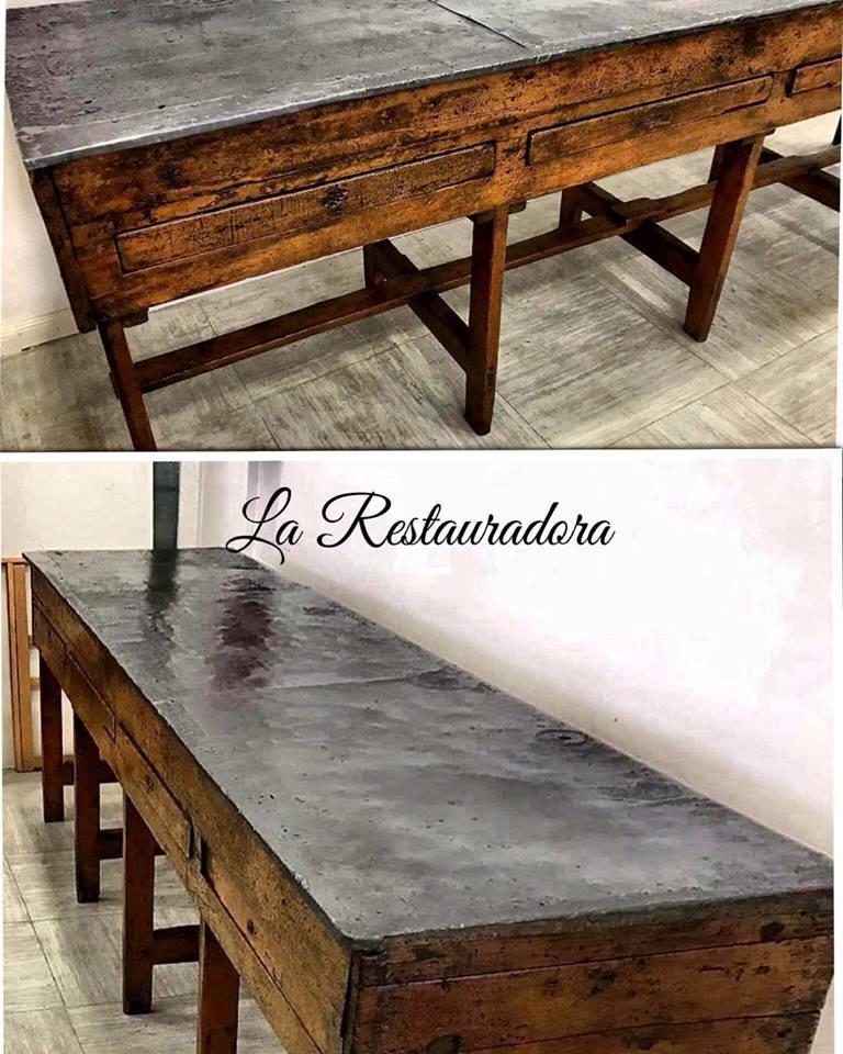 Antiguo mostrador restaurado La Restauradora