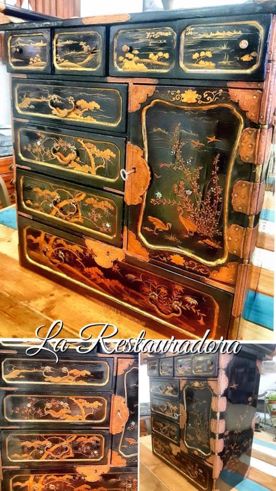 Restauración mueble chino La Restauradora